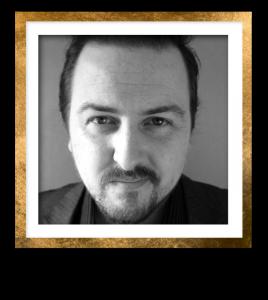 Jonathan Headshot Gold Frame