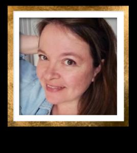 Kendra Headshot Gold Frame