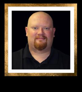 Matthew Headshot Gold Frame