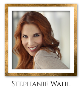 Stephanie Headshot Gold Frame