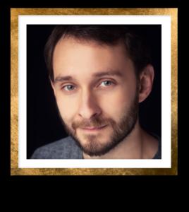 Nathan F Headshot Gold Frame