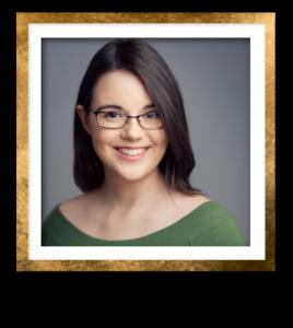 Larissa Headshot Gold Frame